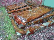 Tiempo del otoño en el cementerio judío abandonado y registrado viejo Imagenes de archivo