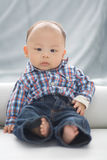 Tiempo del retrato del bebé Fotografía de archivo