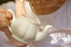 Tiempo del té -- ¡Vacío! imagen de archivo