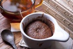 Tiempo del té con el postre Fotografía de archivo libre de regalías