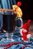 Tiempo del té del fondo de la Navidad Foco selectivo Fotografía de archivo