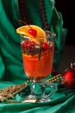 Tiempo del té del fondo de la Navidad Foco selectivo Imagen de archivo libre de regalías