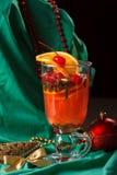 Tiempo del té del fondo de la Navidad Foco selectivo Fotos de archivo libres de regalías