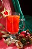 Tiempo del té del fondo de la Navidad Foco selectivo Foto de archivo libre de regalías