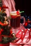 Tiempo del té del fondo de la Navidad Foco selectivo Fotos de archivo
