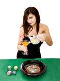 Tiempo del té o jugador de póker fotos de archivo libres de regalías