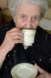 Tiempo del té para la señora Fotografía de archivo