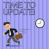 Tiempo del texto de la escritura de la palabra para ponerse al día El concepto del negocio para esto es momento correcto para hac ilustración del vector
