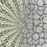 Tiempo - dinero imagen de archivo