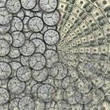 Tiempo - dinero ilustración del vector