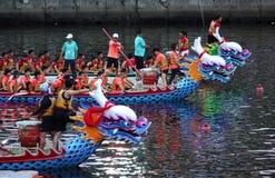 Tiempo Dragon Boat Races de la tarde en Taiwán Imagen de archivo