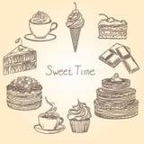Tiempo dulce 1 stock de ilustración