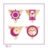 TIEMPO: El icono fijó 05 - la versión 3 Foto de archivo libre de regalías