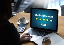 Tiempo en línea de la evaluación de los comentarios para la evaluación de la inspección del comentario Fotografía de archivo