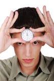 Tiempo en la frente imagen de archivo libre de regalías