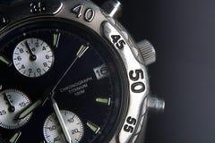 tiempo en negro Foto de archivo libre de regalías