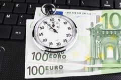 Tiempo euro Fotos de archivo libres de regalías