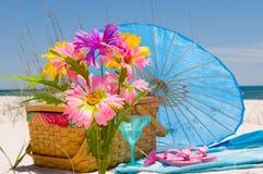 Tiempo festivo en la playa Imagen de archivo libre de regalías