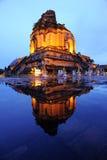 Tiempo grande del crepúsculo del templo de la pagoda Fotos de archivo libres de regalías