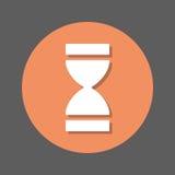 Tiempo, icono plano del reloj de arena Botón colorido redondo, muestra circular del vector con efecto de sombra Diseño plano del  libre illustration