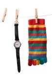 Tiempo lavado planchado Fotografía de archivo libre de regalías