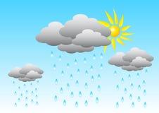 Tiempo lluvioso ilustración del vector