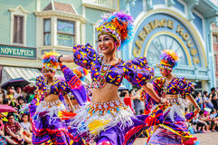 Tiempo loco en Disneyland, Hong-Kong Fotos de archivo libres de regalías