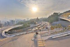 tiempo Lung Kui Road, Hong Kong, Kowloon del día Imagen de archivo libre de regalías