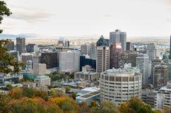 Tiempo muerto Montreal en la caída Foto de archivo