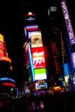 Tiempo NYC cuadrado Fotos de archivo libres de regalías