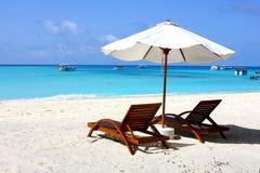Tiempo pacífico en Maldives Foto de archivo libre de regalías