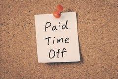 Tiempo pagado apagado Fotos de archivo libres de regalías