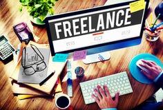 A tiempo parcial independiente externaliza a Job Employment Concept imagen de archivo libre de regalías