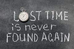 Tiempo perdido Foto de archivo