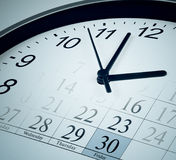 Tiempo, plazo, finales del concepto del asunto del mes Fotos de archivo