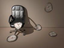 Tiempo que fluye ilustración del vector