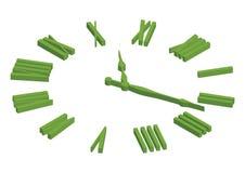 Tiempo que muestra el reloj foto de archivo