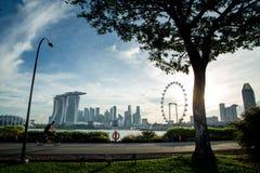 Tiempo recreativo en el horizonte de Singapur Fotos de archivo libres de regalías
