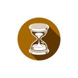 Tiempo sin el icono conceptual del extremo, elemento del diseño web antigüedad 3d Fotografía de archivo libre de regalías