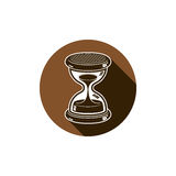 Tiempo sin el icono conceptual del extremo, elemento del diseño web antigüedad 3d Fotos de archivo libres de regalías