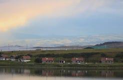 Tiempo sobre Ushuaia y el canal del beagle Fotografía de archivo libre de regalías