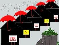 Tiempo tempestuoso de las propiedades inmobiliarias libre illustration