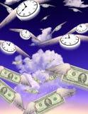 Tiempo - un dinero ilustración del vector