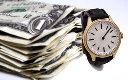 Tiempo - un dinero Imagen de archivo libre de regalías