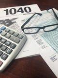 Tiempo VI del impuesto Fotos de archivo