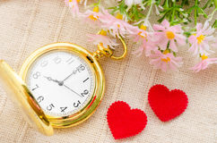 tiempo y concepto del amor Imagenes de archivo