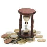 Tiempo y concepto del dinero Imagen de archivo