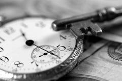 Tiempo y concepto del dinero Imagen de archivo libre de regalías
