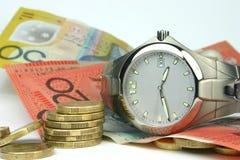 Tiempo y dinero Imagen de archivo