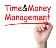 Tiempo y gestión de dinero Fotografía de archivo libre de regalías